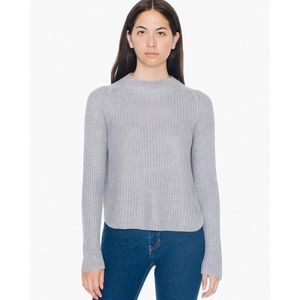 American Apparel Cropped Knit Grey Sweater XS